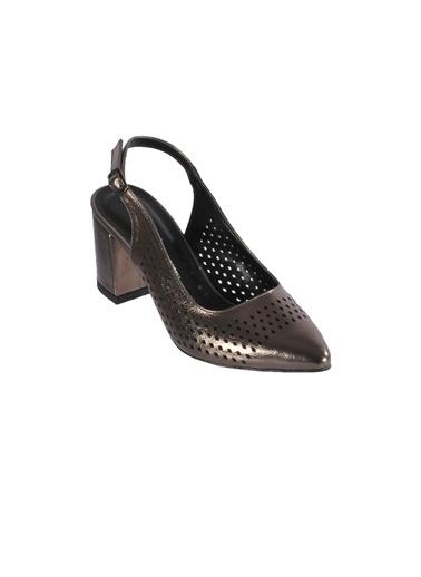 Esstii 91879 Siyah Sultan Kadın Topuklu Ayakkabı Gümüş